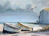 fond d ecran de Christian Zaber - Peinture - Aquarelles de Christian Zaber - La Normandie en fond d'écran & en couleur
