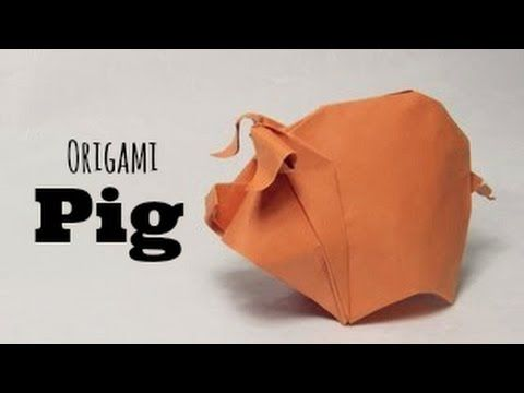 tutoriel origami cochon