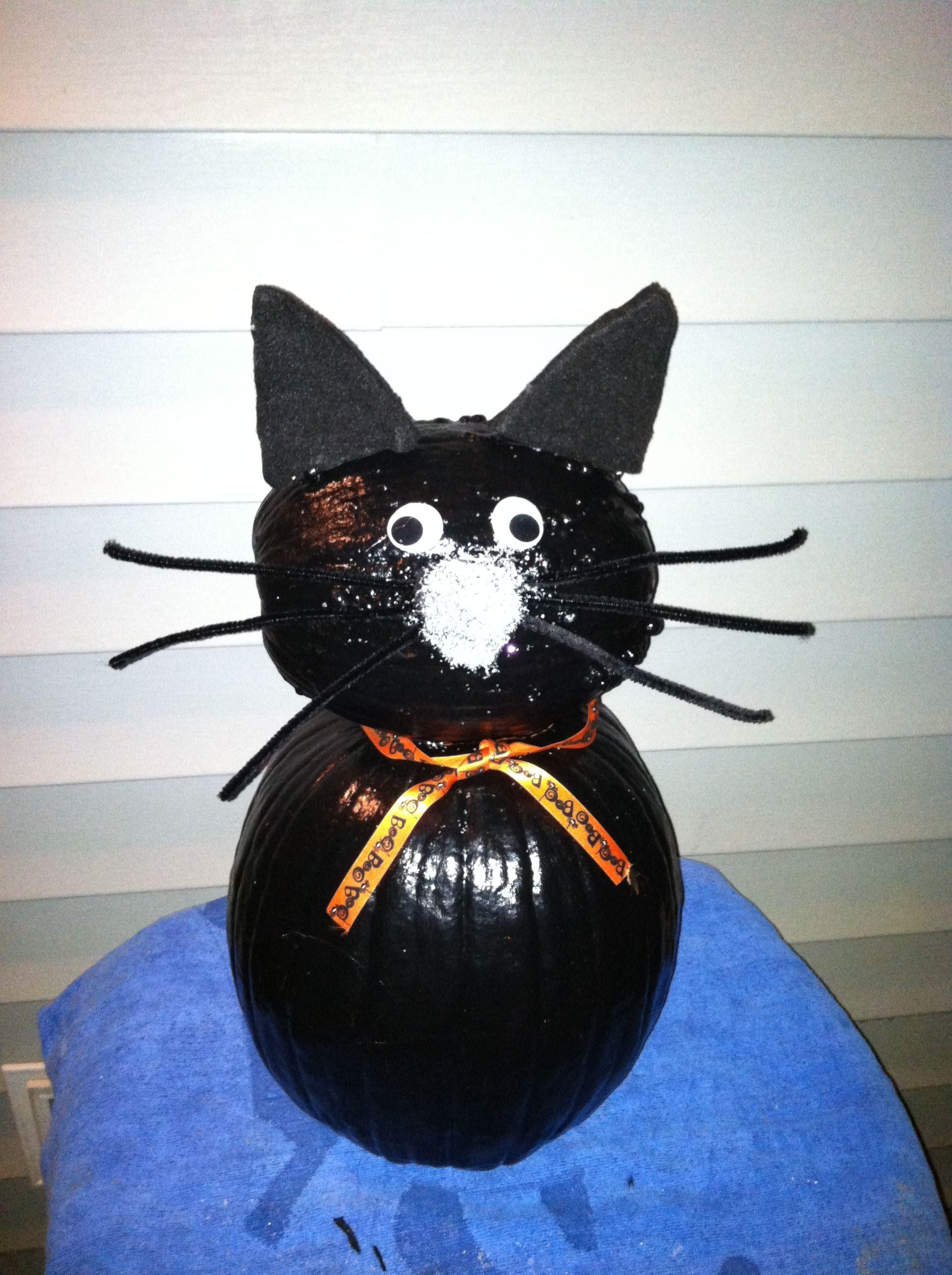 37++ Black cat no carve pumpkin inspirations
