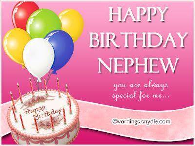 Happy 1st Birthday Nephew Card Happy Birthday Wishes Pinterest