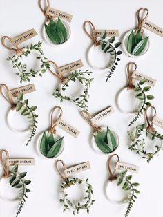 Greenery Wedding Favors, Greenery Baby Shower Favo