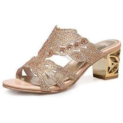 Chaussure sandale talon été ZHXUANXUAN pour Femme haut | couleur: Gold | B-BFXJ