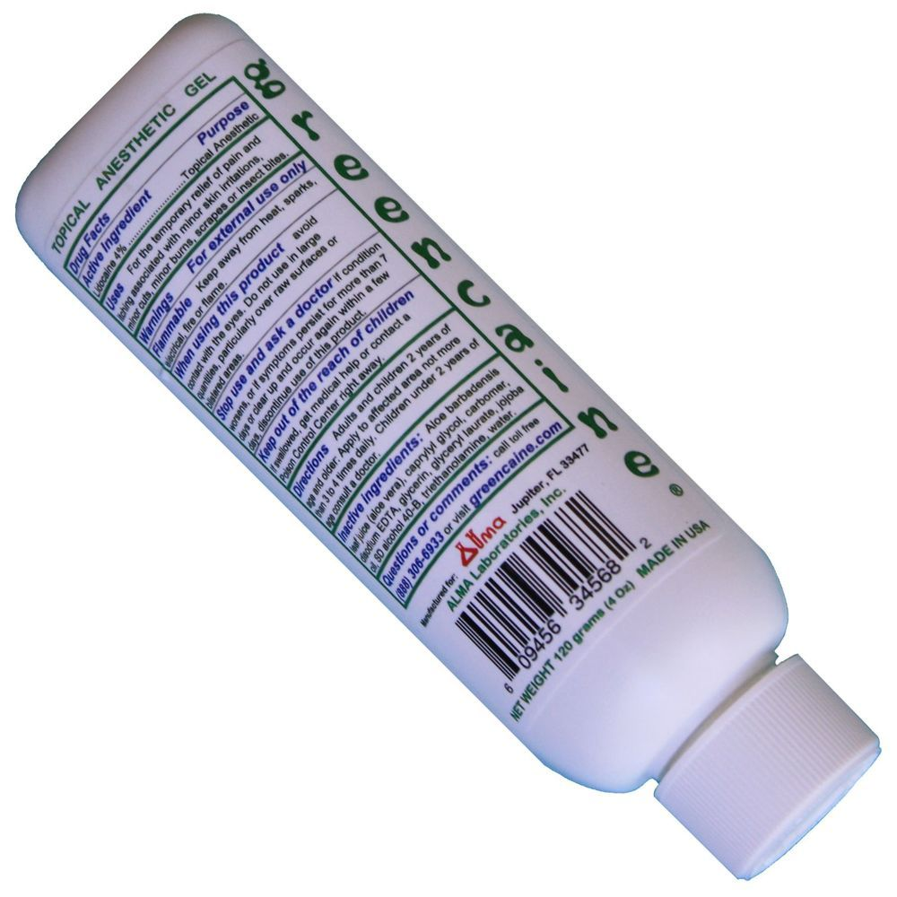Greencaine Lidocaine Numbing Cream Topical Anesthetic Best 4 Tattoo