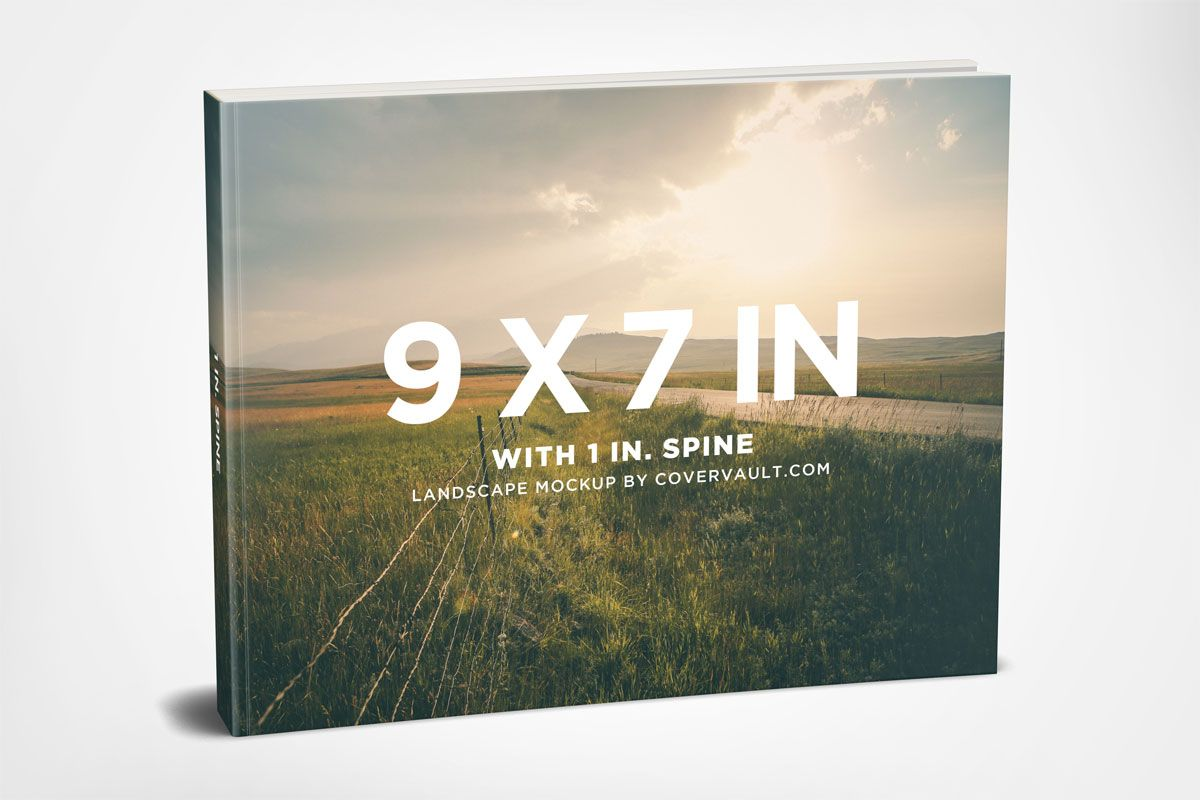 9 X 7 Landscape Paperback Book Mockup Free Book Cover Templates