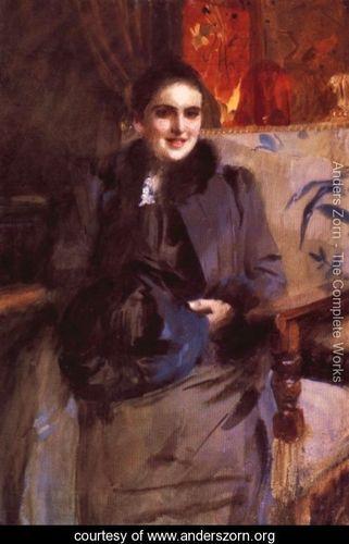 Anders Zorn (1860 – 1920, Swedish) | Mademoiselle Antoinette May
