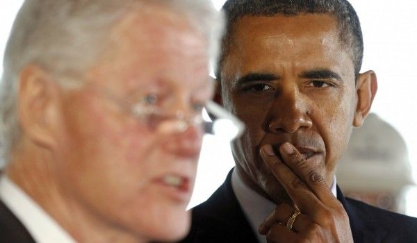 From Behind Bill Clinton's Skirt, Obama Says Romney Wouldn't Have Ordered Bin Laden Raid – With Video