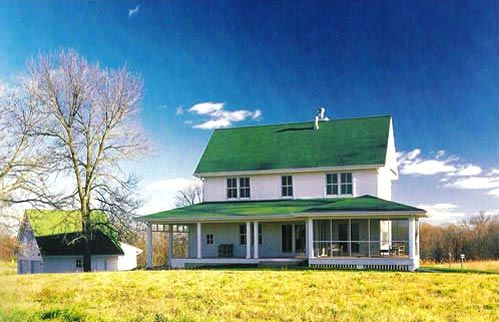 wonderful farmhouse w/ wrap-around porch (hq plans & pictures