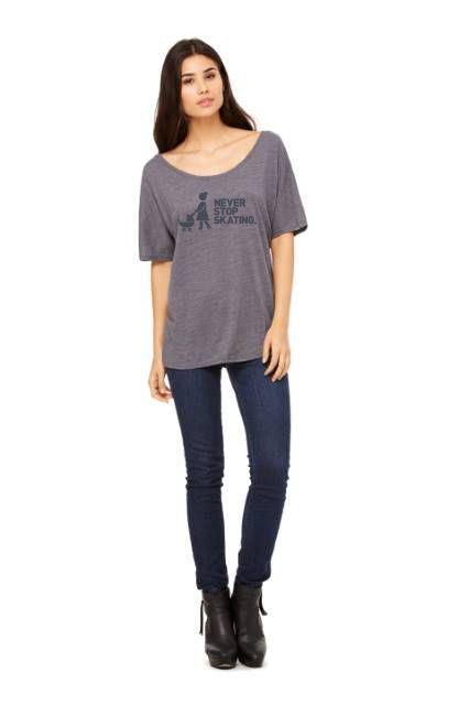 Michelle Never Stop Skating Womens Slouchy Tee