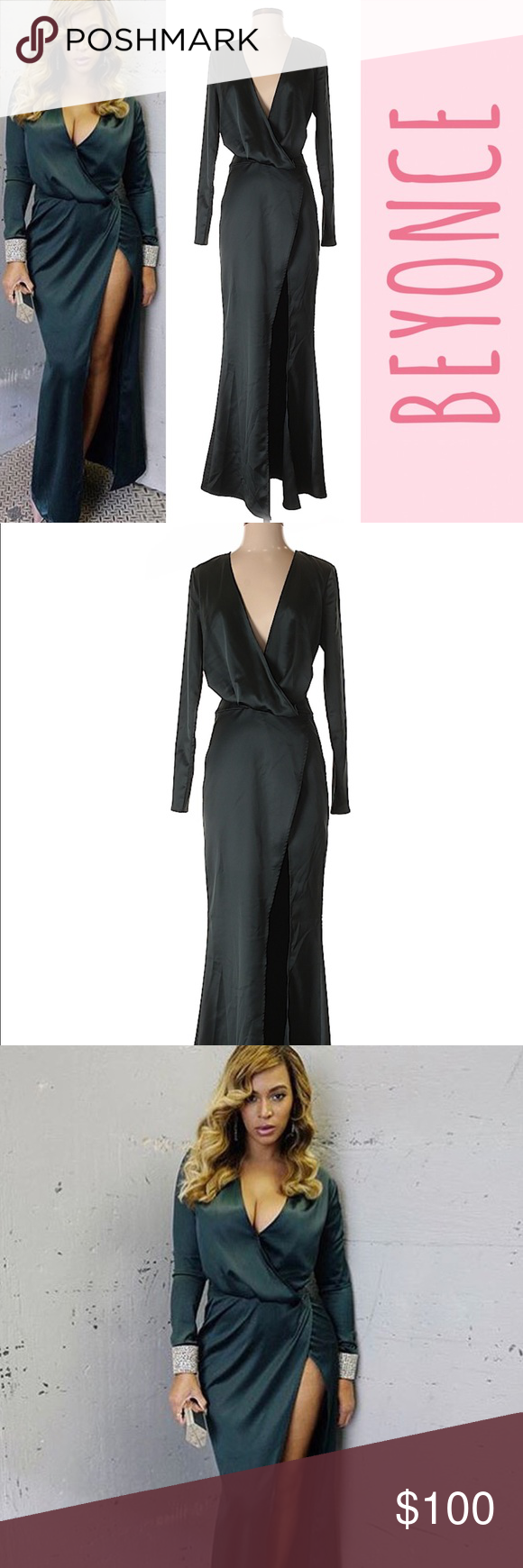 House Of Cb Serafina Dress As Seen On Beyonce Item Info Beyoncé Long Sleeves And A Front Centre