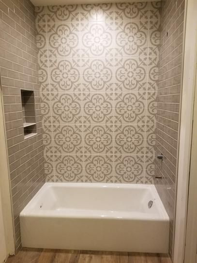 Indesign Cementine Ashby White 8 In X 8 In Durabody Ceramic Floor And Wall Tile 10 76 Sq Ft Case Ceramic Floor Cement Tiles Bathroom Floor And Wall Tile