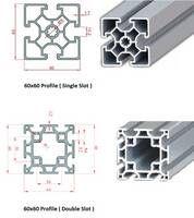 60x60 Industrial Aluminium Profile(Single&Double Slot)