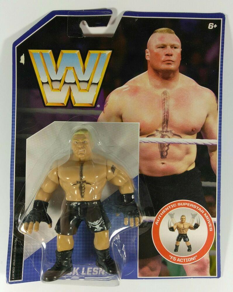 WWE Retro Brock Lesnar Wrestling Figure by Mattel