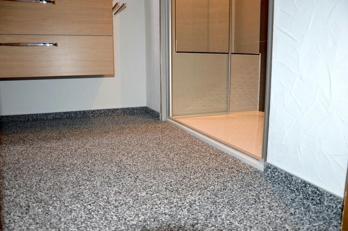 Anspruchsvoll Bad Bodenbelag Foto Von Sauber Und Fußwarm, Leicht Zu Reinigen, Steinteppichböden