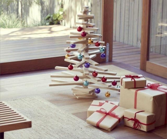 Weihnachtsbaum-Deko-Holz-selber-bauen-dekorieren-minimalisticher ...