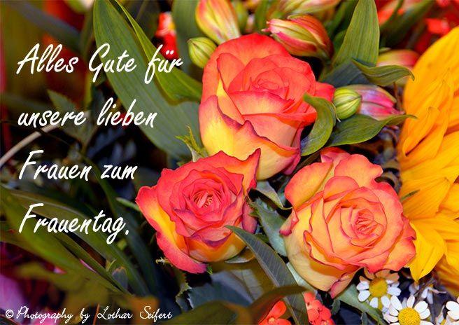 E-Cards zum Frauentag mit schönen Blumen für unsere Frauen