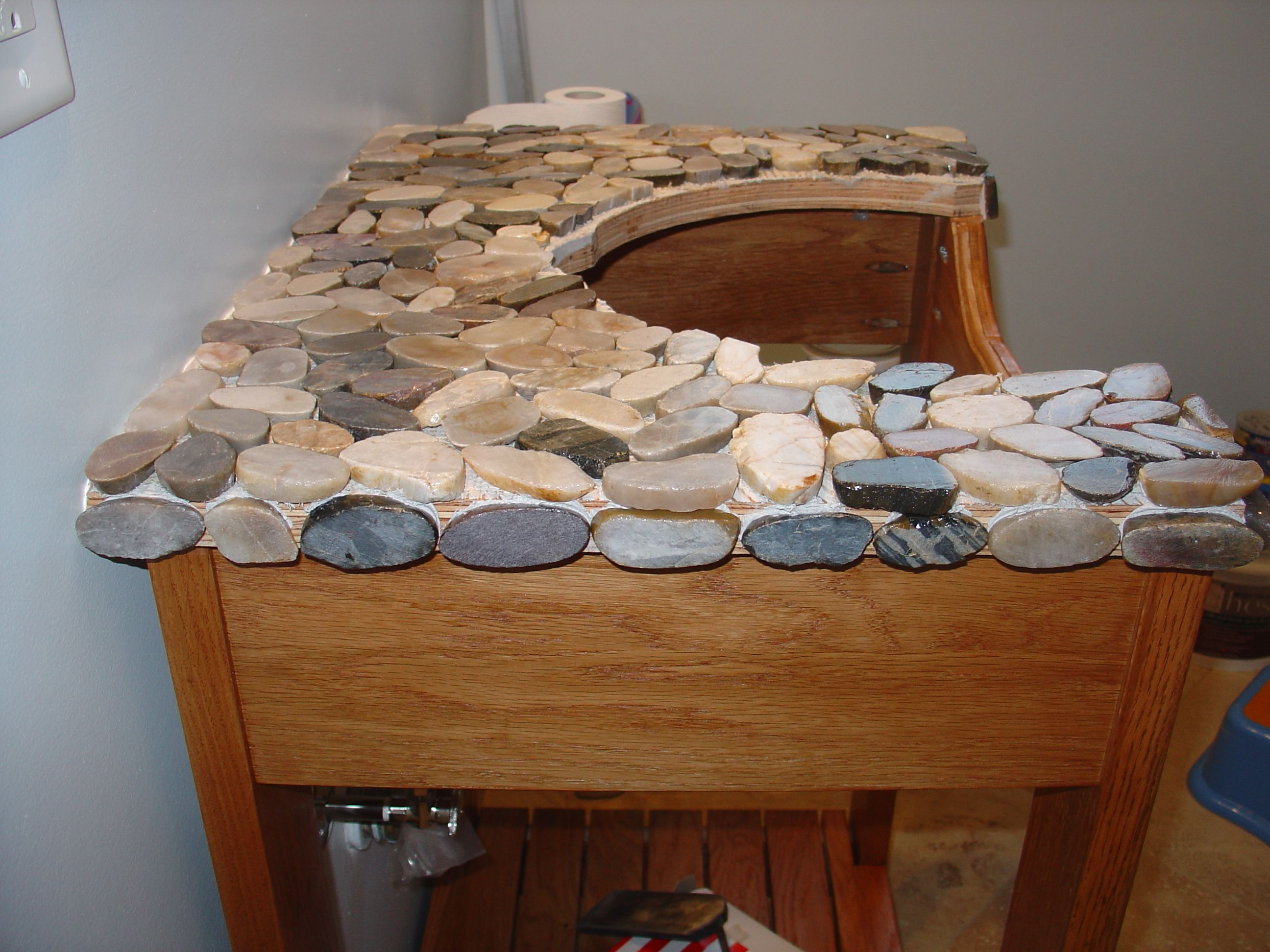 Bed Bath Stylish Stone Vanity Top and Cabinet for Diy Bathroom