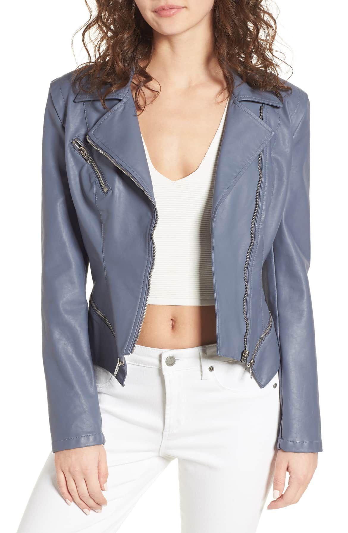 BLANKNYC Faux Leather Moto Jacket (Regular & Plus Size