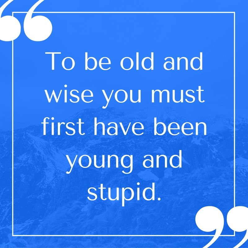 Haha! Who else has been young and stupid at one point? www.mitchcarpenter.com