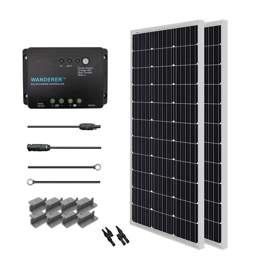 Renogy 1 Module 47 3 In X 21 3 In 200 Watt Solar Panel Starter200d Wnd30 In 2020 Best Solar Panels 12v Solar Panel Off Grid Solar