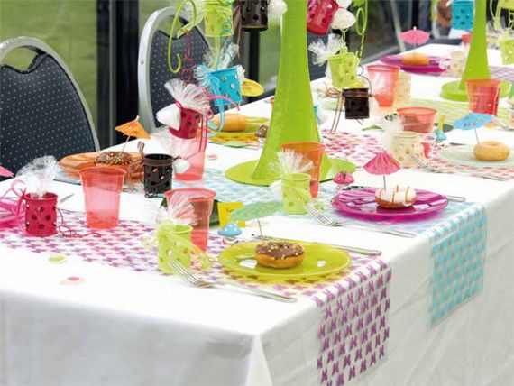 Spring Table Decorations spring table decorating ideas | gardens, colors and white tablecloth