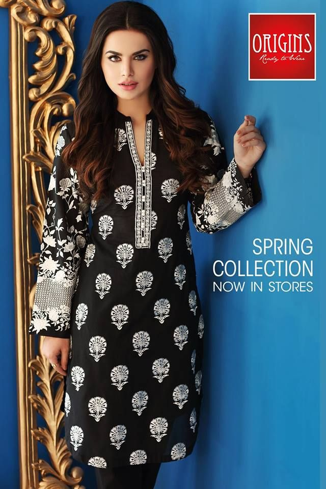 d5bf93b47a1 Latest Summer Kurti Designs   Tops by Origins Spring Collection 2018 ...