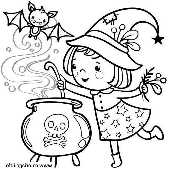 halloween fille petite sorciere coloriage | Art, Make up ...