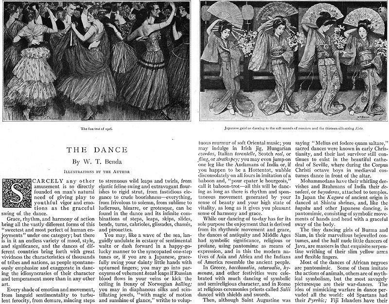The Dance part 1 (1916) by W.T. Benda