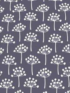 Lotta Jansdotter fabric pattern: Florine Dusted Plum | Fab Fabrics