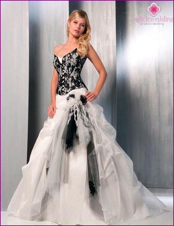 Super abiti da sposa bianco e nero - Cerca con Google | sposa  HG88