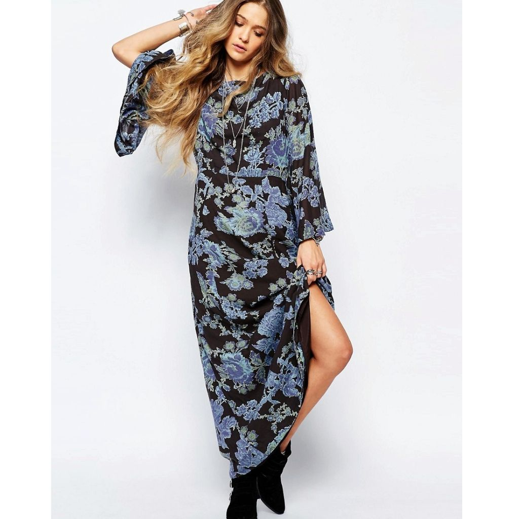 today free people bell sleeve maxi dress free people people