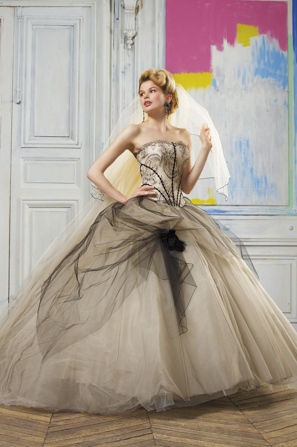 Champagne colored wedding dress  Love this  My wedding  Pinterest  Weddings