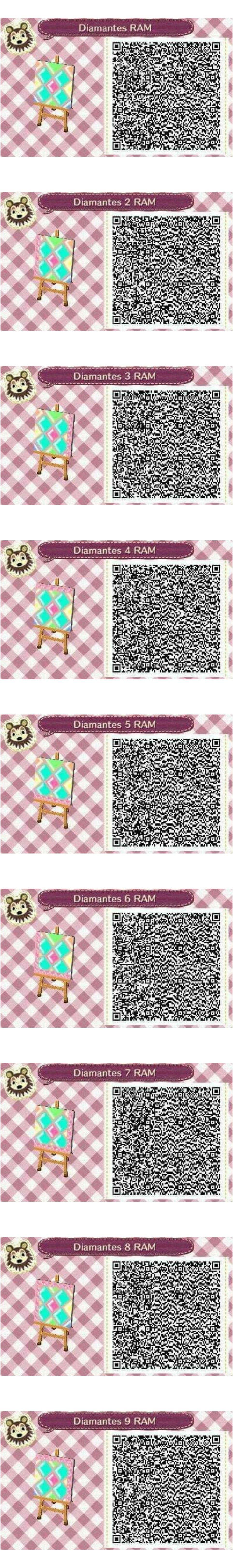 Este es un QR Code para Animal Crossing creado por mí misma. Como podéis observar es un corazón