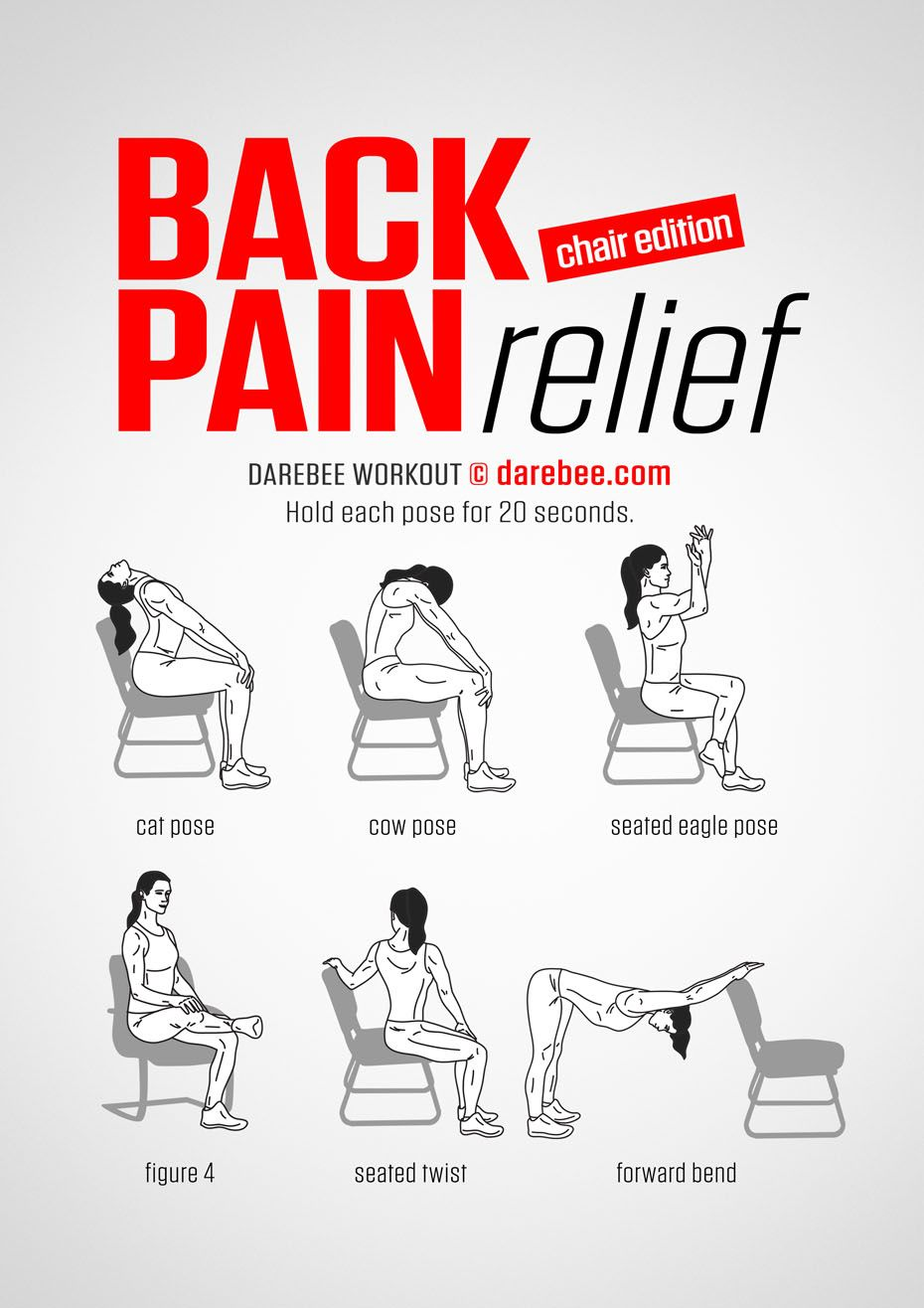 Back pain relief chair workout exercises for back for Chair workouts