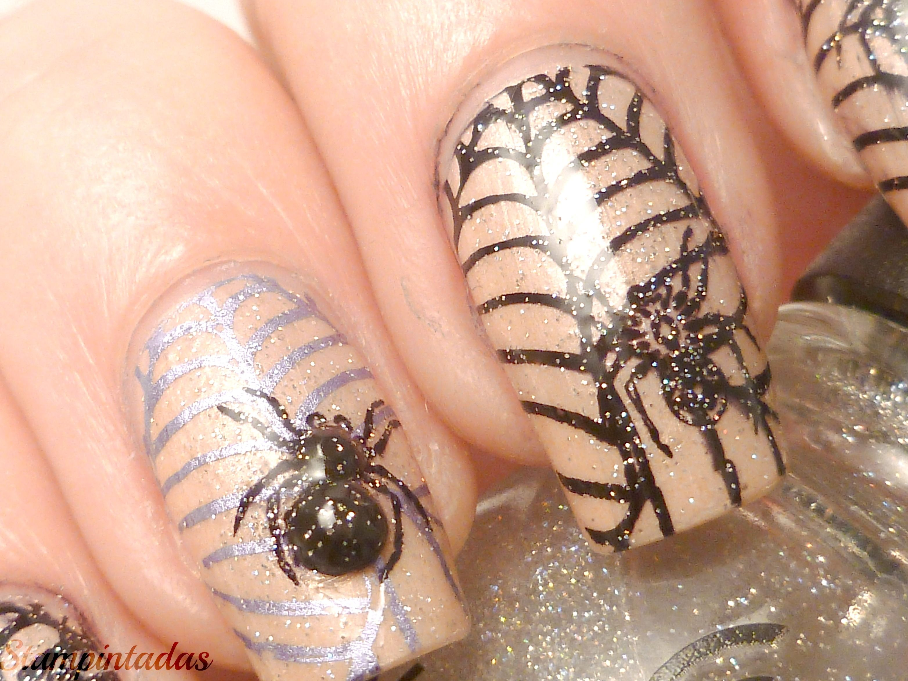 3D Spider + China Glaze Fairy Dust | Mis manicuras/ My Nail Art ...