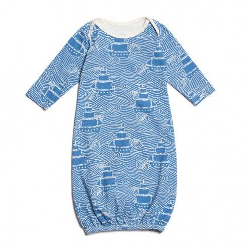 Winter Water Factory Baby Gown With High Seas Print Designer Baby