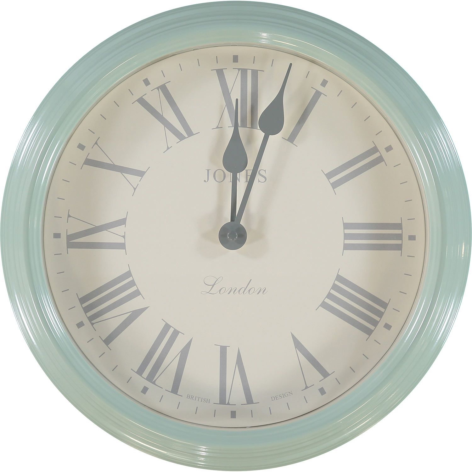 Jones clocks large savoy duck egg blue wall clock tk maxx jones clocks large savoy duck egg blue wall clock tk maxx amipublicfo Image collections