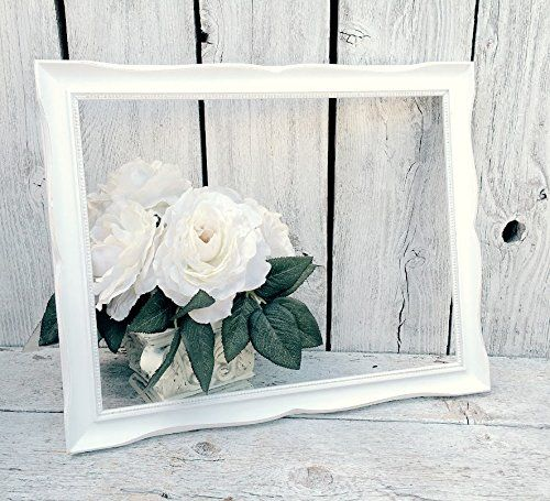 White French Country 11 X 14 Photo Frame Ornate Scrolled Detailing Distressed White Picture Frame White Picture Frames Shabby Chic Frames Picture Frames