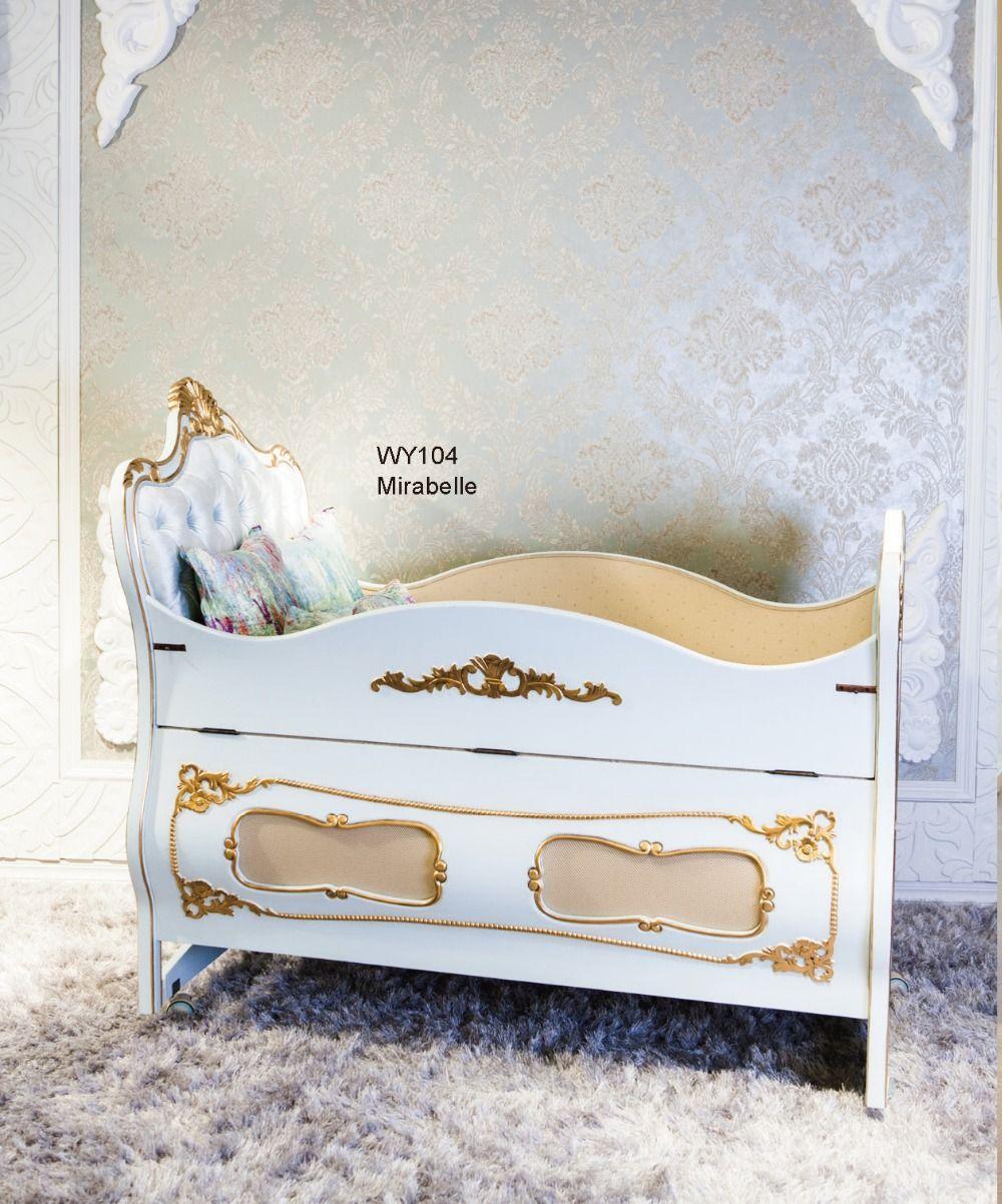 european luxury wooden crib baby cot german beech cradle bed upscale furniture