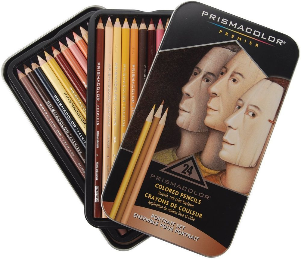 Prismacolor Premier Colored Pencils Portrait Set Soft Core 24