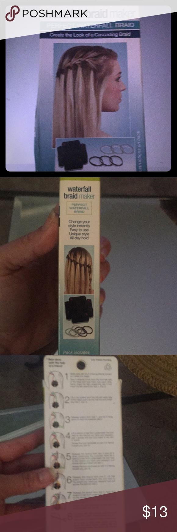 Waterfall braid maker 4 beautiful waterfall braids Waterfall braid maker comes w…