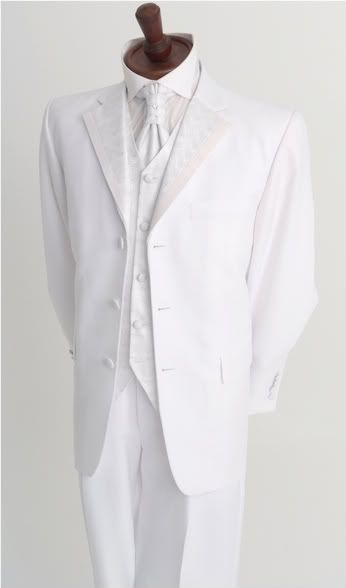 Details about ITALIAN DESIGNER WEDDING DINNER DRESS WHITE SUIT ...