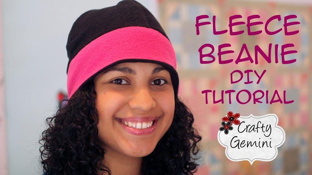 Reversible Fleece Beanie Hat - DIY Tutorial & Free Pattern - Crafty ...
