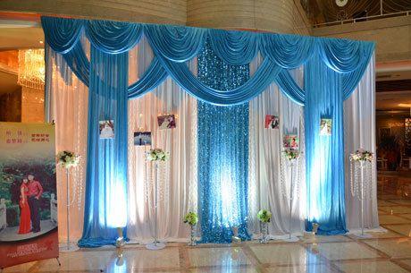 Comprar 3 4 m del banquete de boda de hielo tela de seda cortinas blanco color - Proveedores decoracion ...