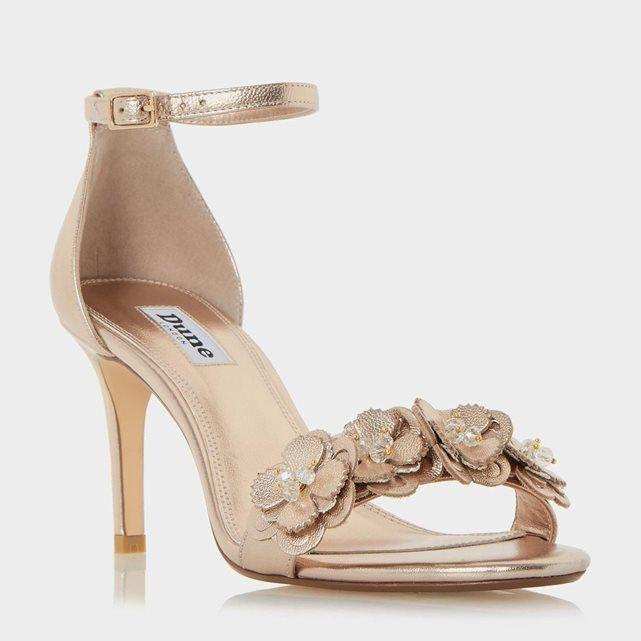 fde4e3da0 DUNE LONDON - MAGNOLEA - Flower Trim Mid Heel Sandal