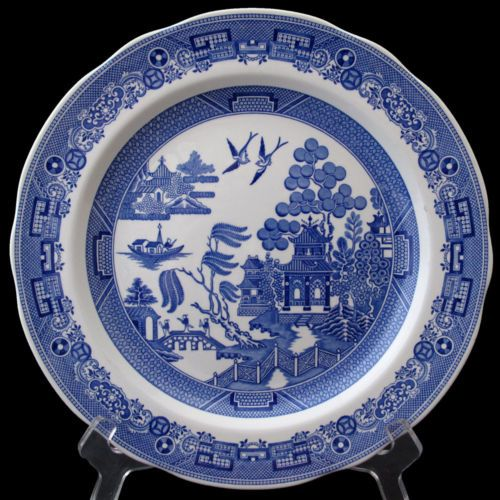WILLOW DINNER PLATE FROM THE SPODE BLUE ROOM COLLECTION