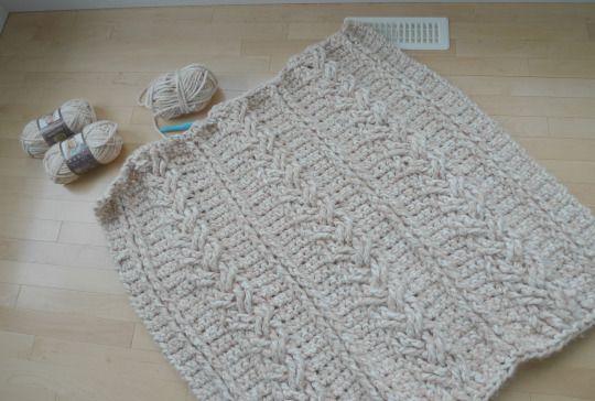 Chunky Braided Cabled Blanket | Patrones de tejido, Patrones y Tablero