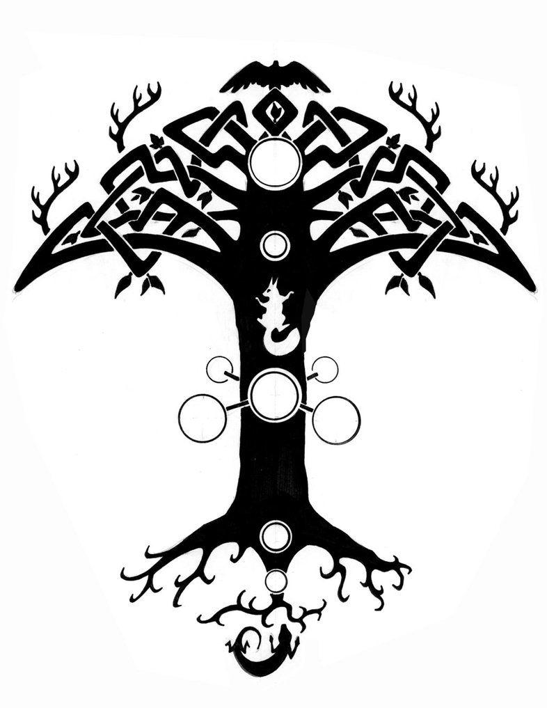 Yggdrasil Tattoo By Theelysian On Deviantart Yggdrasil Tattoo Norse Tattoo Nordic Tattoo