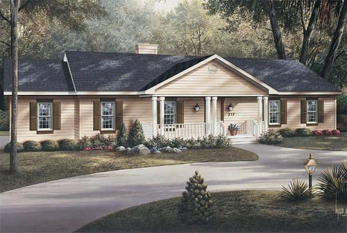 H001d 0024 The Brightmoore At Menards Ranch Style House Plans Ranch Style Homes Ranch Style