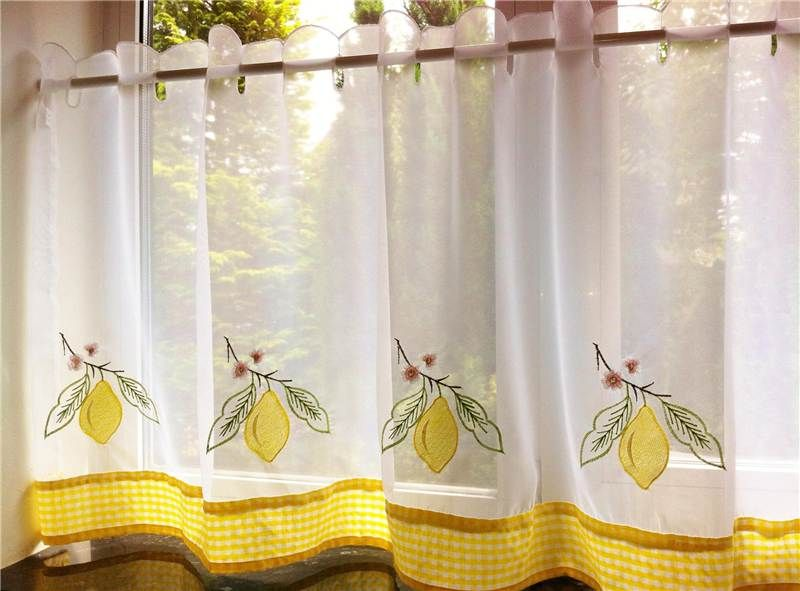 Merveilleux Yellow Kitchen Curtains Lemons / Pelmet / Cafe Panels U0026 Seat Pads | EBay