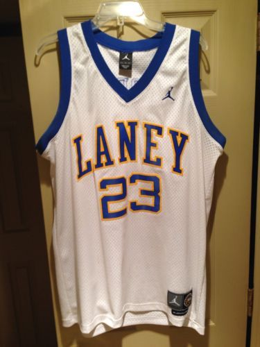 low priced 11ac7 94912 Michael Jordan Stitched Chicago Bulls Laney High School 1980 ...